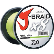 Daiwa J-Braid 8Lb/2Lb Diameter 165 Yards Chartreuse