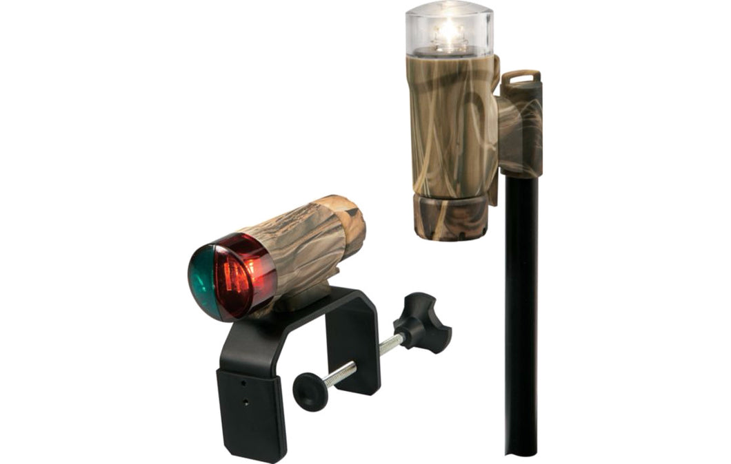Attwood Portable Combo Lite Clamp On Led Bow & Stern Realtree Max 4
