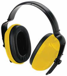 Allen Hearing Protector Muff Adjustable Color - Yellow