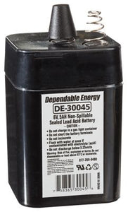 American Hunter Feeder Battery 6V Rechargeable 5 AMP HR With Spring