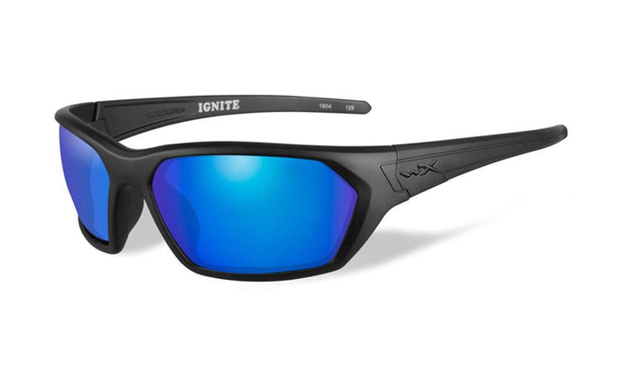 Wiley X Ignite Eyewear Blue Mirror/Matte Black