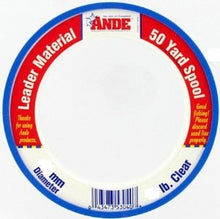Ande Leader Wrist Spool Clear 100Lb 50 Yards