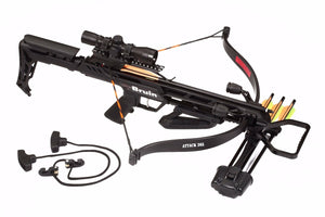 Bruin Attack 265 Recurve Crossbow Package - Black