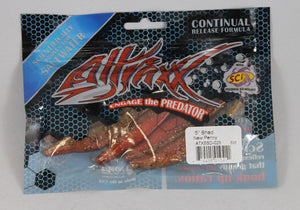 "Attraxx Saltwater Shad 5"" 6 Per Bag Rootbeer Gold"