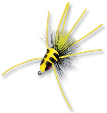 Betts Fish Head Size 10 Chartreuse/Black/Yellow