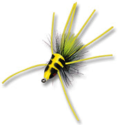 Betts Fish Head Size 8 Chartreuse/Black/Yellow