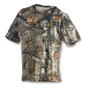 Browning Junior Wasatch T-Shirt Short Sleeve Realtree Extra Cotton/Poly Large