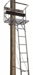 Big Dog Tree Stand Ladder 2-Person Red Tick II 17.5'