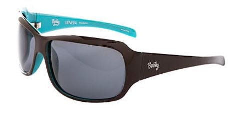 Berkley Polarized Sunglasses Geneva Gloss Chocolate/Turquoise/Smoke