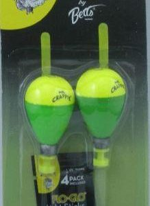 "Betts Mr Crappie Snap On Float Pear 1.5"" Lighted - 2 Per Pack"