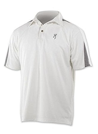 Browning Polo Shirt Mens Perf S/S Textured White
