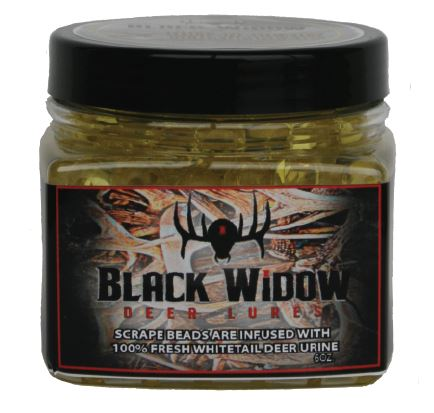 Black Widow Deer Lure Scrape Master Scent Beads 6 Oz