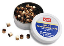 CCI Percussion Caps #11 10 Tins of 100 Caps Order 10