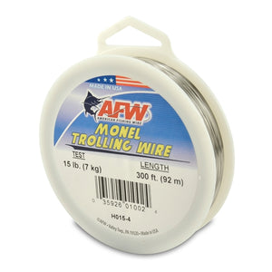 AFW Monel Trollong Wire 300' Nickel-Copper Alloy 15Lb .033Mm