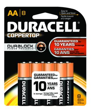 Duracell Alkaline Battery Coppertop AA 8-Pack