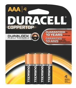 Duracell Alkaline Battery Coppertop AAA 4-Pack
