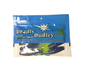 "Deadly Dudley Baychovey 8 Per Pack 3"" Blue Moon/Chartreuse Tail"