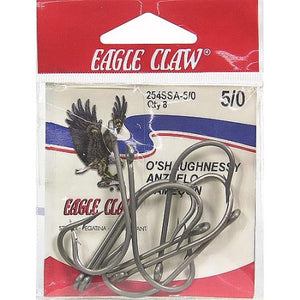 Eagle Claw Hook Stainless Heavy Shank Size 1/0 5 Per Carton Order 10