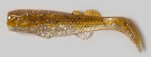"Edge Hybrids Marsh Minnow 3"" 10 Per Pack - Fire Avocado"