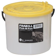 Frabill Fish-N-Fun Bait Bucket 4.5 Qt W/Removable Lid
