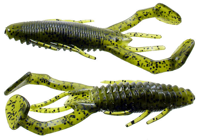"Gene Larew Rattlin Crawler 4.25"" With Rattles 6 Per Bag - Black/Blue"