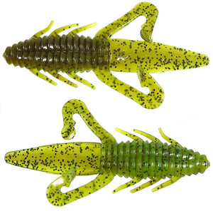 "Gene Larew Biffle Bug 4.25"" 8 Bag Blue Fleck"
