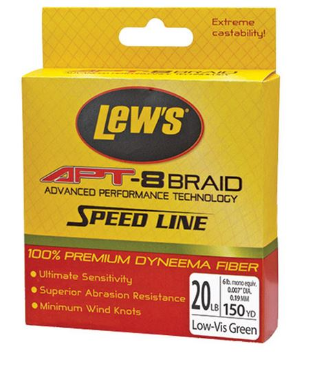 Lews APT Speed Braid Green 6Lb 150 Yards