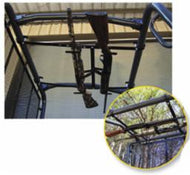 Miller UTV Roof Mount Gun Rack 2-Gun For Mules/Ranger/Kubota