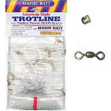 Magic Bait Trotline Economy 100' With Plastic Spacers - 20 Hooks