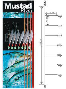 Mustad Piscator Bait Rig 6 5 Hook 10 Packs Per Carton