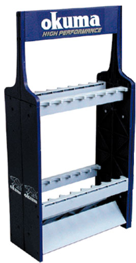 Okuma ABS Rod Rack - Holds 16 Rods Display Rod Rack - ABS Plastic