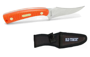 "Old Timer Sharpfinger Orange 3.3"" Blade W/Sheath"