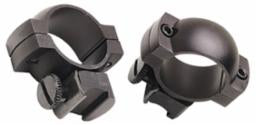 Simmons Top Mount Rings High Matte Black 1""