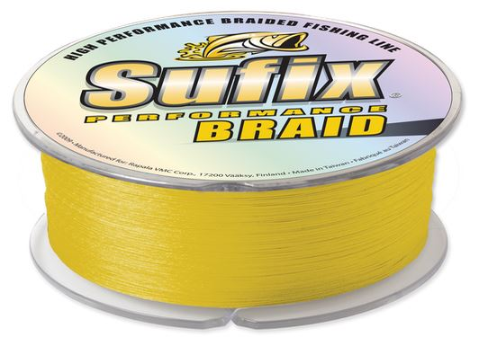Normark Sufix Performance Braid 10 Lb Hi-Vision Yellow