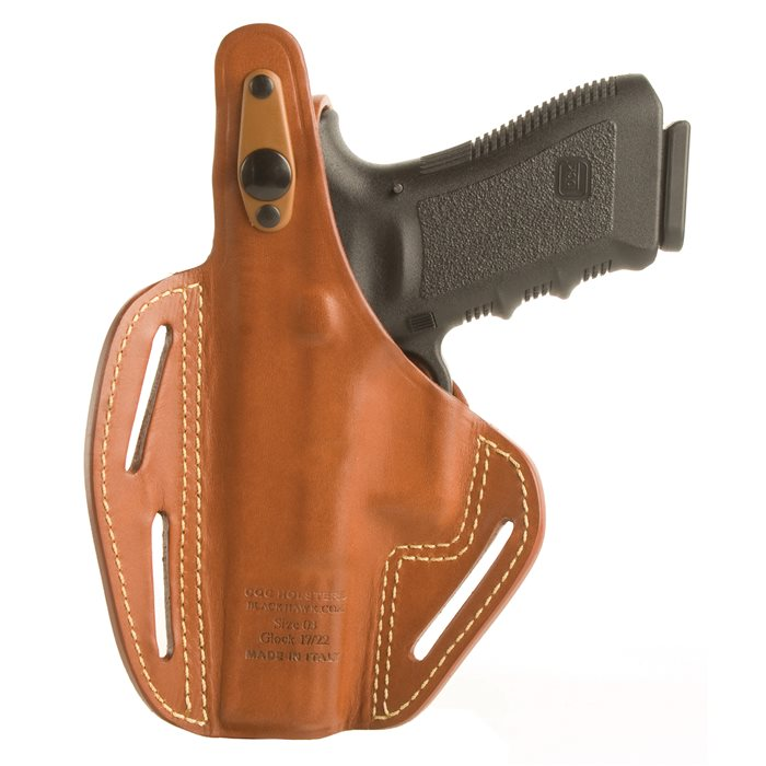 Blackhawk Leather Pancake Holster Left Hand Beretta 92/96 Black