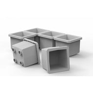 "Buzbe 6 Customizable 1 x 1 Bins (1.6"" x 1.6"")"