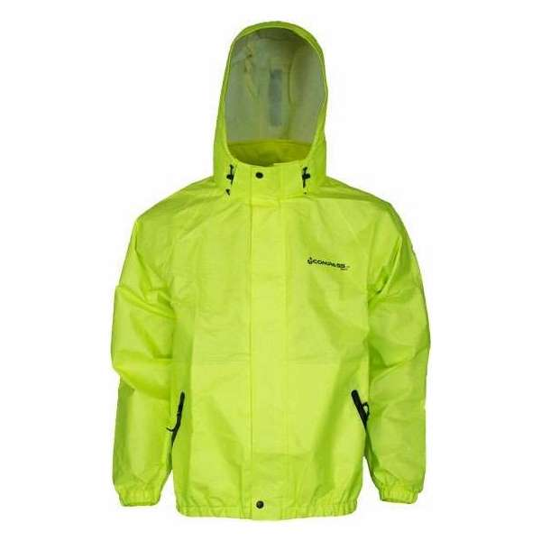 Compass 360 AdvantageTek Rain Jacket HV Lime Green - Small