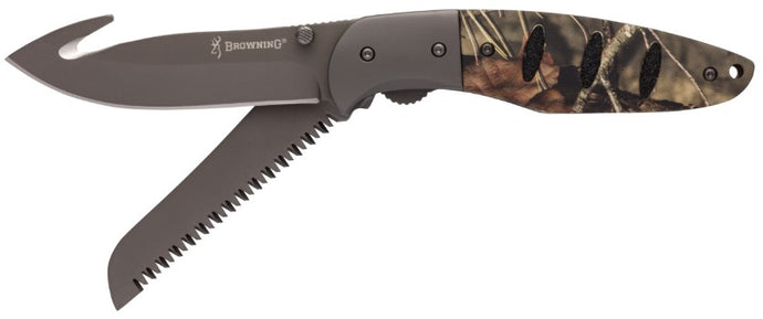 Browning Folding Knife Hunt-N-Gut Mossy Oak Break Up County