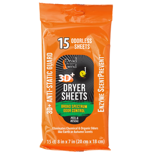 Dead Down Wind Scent Elimination Dryer Sheets 15 Count