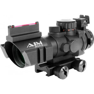 Aim Sports Tri-Illuminated Scope 4X32 Illuminated With Fiber Optic Sight