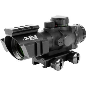 Aim Sports Tri-Rail Scope 4X32 Tri-Illuminated Scope With TS Mount