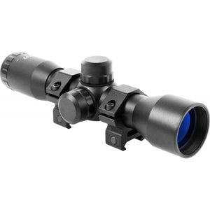 Aim Sports Compact Scope 4X32 Rangefinder Scope With Rings