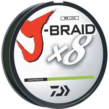 Daiwa J-Braid Chartreuse - 300 Yard Spool