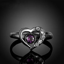 Limited Edition Amethyst, Back or Yellow Gold filled Ring