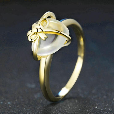 Natural Citrine, 14K Yellow Gold plated Sterling Silver Ring