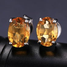 A Unique 3 in 1 Set of Genuine Citrine , Sterling Silver Ring, Pendant and Earrings
