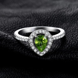 Luxurious 0.79ct Peridot, Sterling Silver Ring