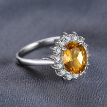 Genuine 1.8ct Yellow Citrine, Sterling Silver Ring
