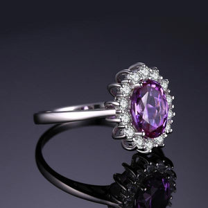 Princess Diana Inspired 2.6ct Alexandrite, Sterling Silver Ring