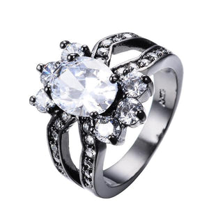 Gorgeous Diamond cz, Black Gold filled Ring
